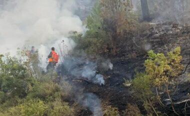 Aksioni nga ajri u ndërpre për shkak të erës, si paraqitet situata e zjarreve në Karaburun
