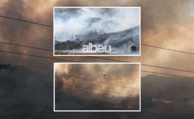 Tym dhe flakë në Gjorm të Vlorës, digjen disa banesa nga zjarri masiv (VIDEO)