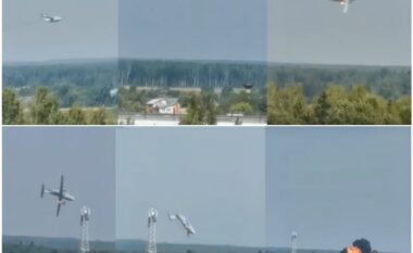 Probleme me motorin, avioni rus shpërthen në flakë dhe më pas rrëzohet (VIDEO)