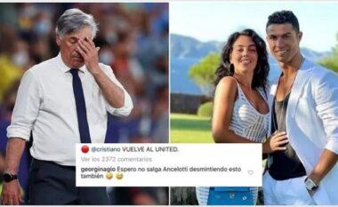 Shikoni si Georgina tallet me Ancelottin pas kalimit të CR7 te Man United (FOTO LAJM)