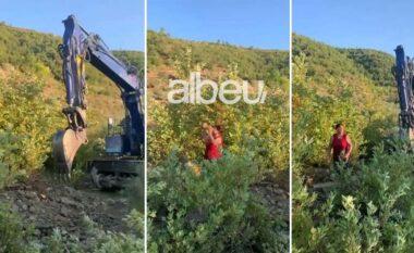 Gruaja ulet përballë eskavatorit: Për një b*th oligarku si Salillari po na shkatërroni (VIDEO)