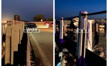 Përplasen dy mjete në Fier-Vlorë, tre të lënduar (VIDEO)