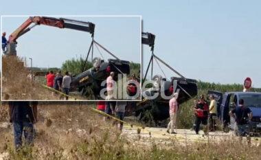 DETAJET/ Nxirren dy trupat pa jetë, si u zbulua makina me dy punonjësit që përfundoi në kanalin plot ujë (VIDEO)