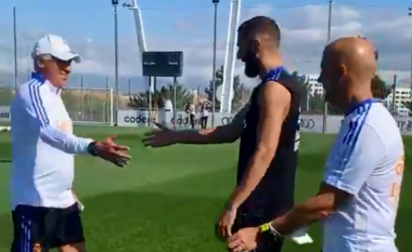 "Benzema kalon Covid-19, pritet me ""dashuri"" nga Ancelotti (VIDEO)"