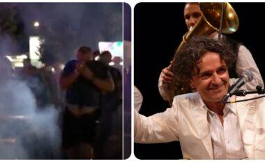 Plasën kapsolla e gaz lotësjellës, Bregoviç reagon për herë të parë pas koncertit në Korçë (VIDEO)