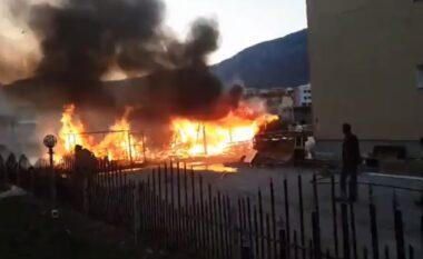 E FUNDIT/ Shkrumbohet një pikë grumbullimi skrapi në Tiranë