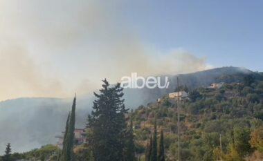 Zjarr edhe në Himarë, digjet kodra mbi qytet (VIDEO)
