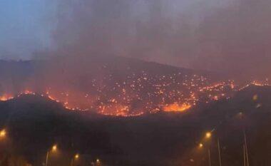 Zjarri në tunelin e Kalimashit, 220 hektarë tokë është shkrumbuar. Rreziku vazhdon