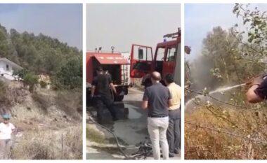 Përkeqësohet situata në Gjirokastër, zjarret i afrohen fshatit Arshi Lëngo (VIDEO)