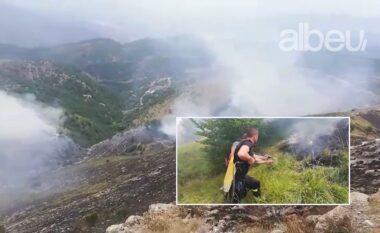 Zjarr në Vaun e Dejës, po punohet intensivisht për shuarjen e flakëve (VIDEO)