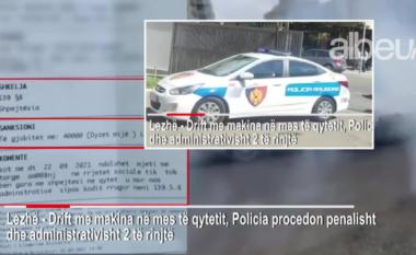 """Bënin """"drift"""" mes Lezhës e videot i postonin në rrjet, e pësojnë keq dy të rinjtë në Lezhë (VIDEO)"""