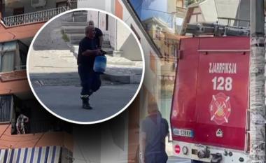 Shpërthen bombola e gazit në Lezhë, flakët pushtojnë katin e tretë të një banese
