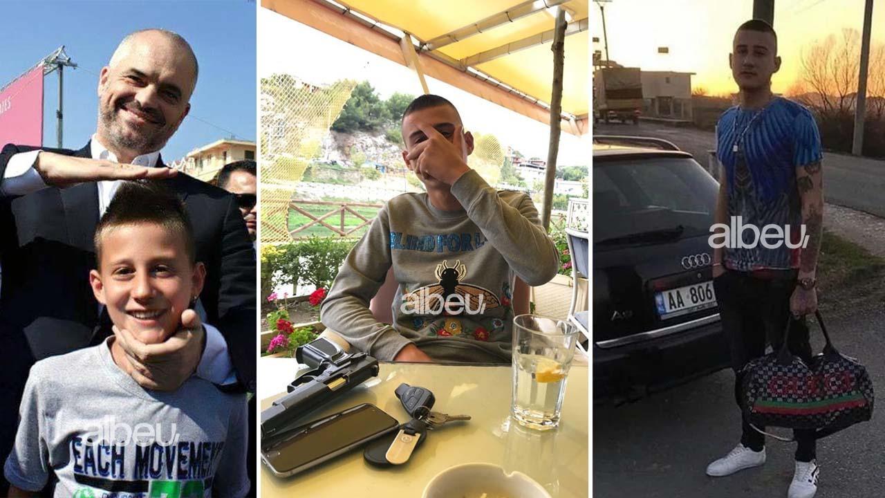 Pozonte me Ramën dhe me pistoletë në tavolinë, dalin fotografi të tjera të autorit (FOTO LAJM)
