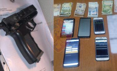 Drogë, pistoleta dhe lojëra fati në lokale, katër të arrestuar në Durrës
