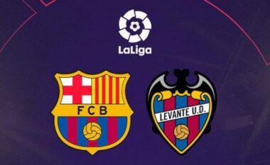 Formacionet zyrtare Barcelona-Levante