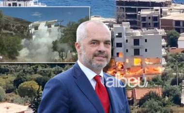 Rama publikon videon e hedhjes në erë të 5 katëshit në Dhërmi dhe ka një thirrje për pronarët: Kujdes! (VIDEO)