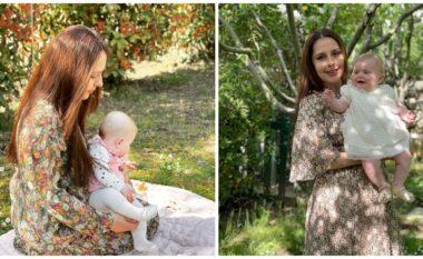 Princeshë Geraldina është rritur, Elia ndan si rrallëherë foton e ëmbël të vogëlushes (FOTO LAJM)