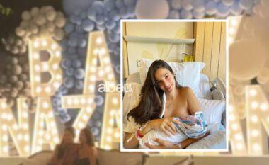 Nënë për herë të tretë, Emina Cunmulaj e pret djalin me festën madhështore (VIDEO)