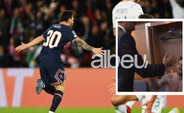 Përqafim i ngrohtë me Messin, momenti kur Nasser Al-Khelaifi feston fitoren me lojtarët e tij (VIDEO)