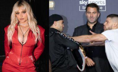 Bebe Rexha reagon për përleshjen e Florian Markut me boksierin ukrainas