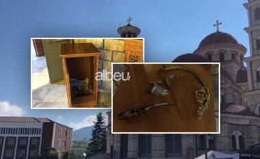 """Vidhen lekët në Katedralen """"Ringjallja e Krishtit"""" në mes të Korçës, dyshohet për dy të mitur (VIDEO)"""