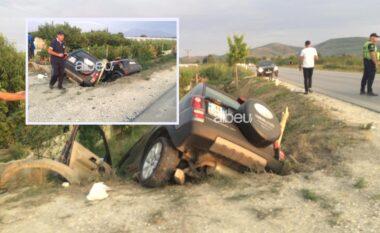 Aksident me 5 të lënduar në Lushnjë, makinat përfundojnë në kanal (VIDEO)