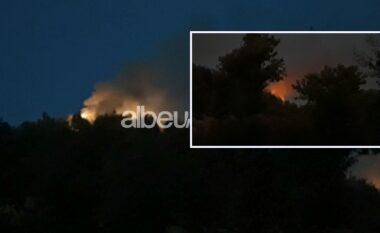 Zjarr i përmasave të mëdha në Borizanë të Krujës