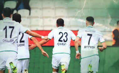 Endri Çekiçi apo Luis Suarez? Mesfushori i kombëtares shënon super gol në kampionatin turk (VIDEO)