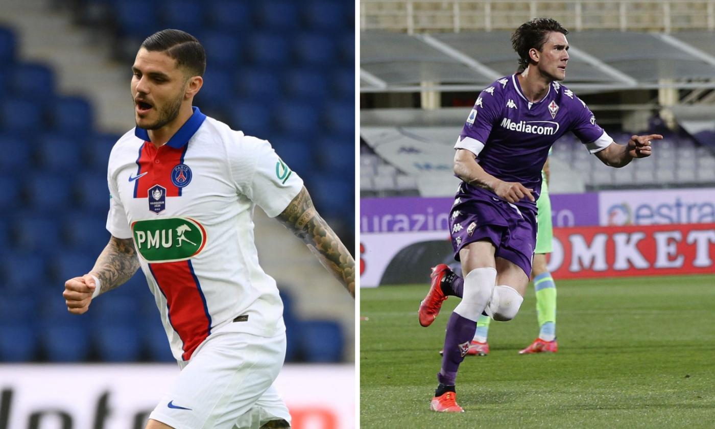 """Sulmi i """"vakët"""", Juventusi tenton dyshen Icardi – Vlahovic"""