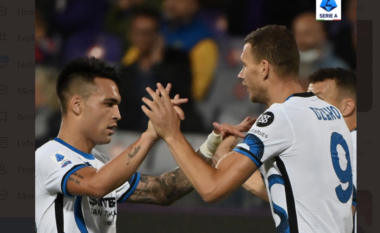 Fiorentina bën mirë vetëm pjesën e parë, Interi përmbys dhe merr 3 pikët  (VIDEO)