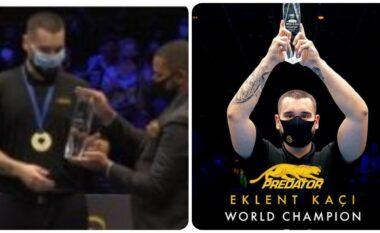 Triumfoi në kampionatin botëror të bilardos, njihuni me 22 vjeçarin Eklent Kaçi nga Laçi