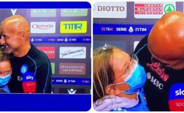 Vajza e Spallettit surprizon babain e saj pas fitores në Udine (VIDEO)