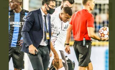 La fushën e lojës ndaj Club Brugge, nuk dihet shkalla e dëmtimit të Mbappe