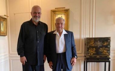 Rama takon Sorosin në New York: Me mikun e çmuar (FOTO LAJM)