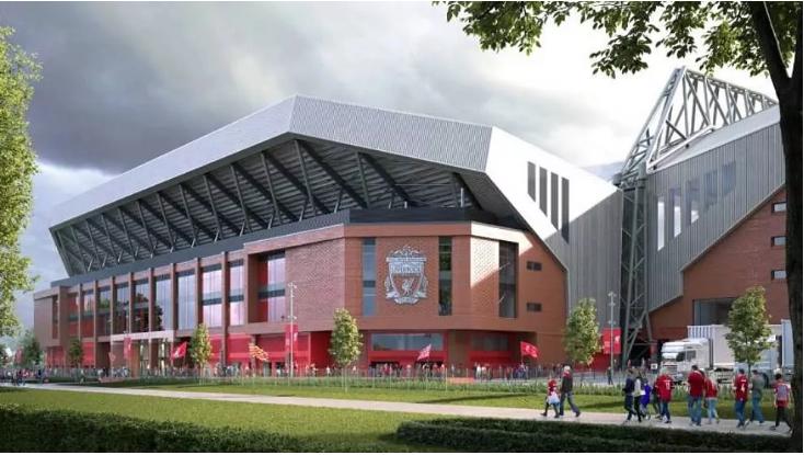 Liverpool si Reali, me Anfield të ri dhe stola shtesë në stadiumin (FOTO LAJM)