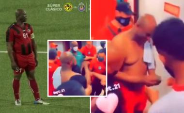 Një futbollist në kërkim nga Interpoli, u ndëshkua pas ndeshjes në Surinami (VIDEO)