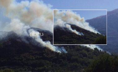 Zjarr në Memaliaj, rrezikohen banesat