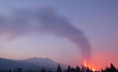 Vullkani në ishujt Kanarie, llava zyt fusha dhe ndërtesa tjetra