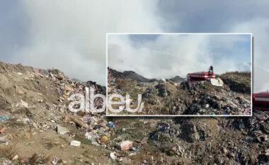 Skandali me plehrat! Pas Durrësit e Fierit, i vendoset zjarri edhe landfillit në Vlorë (VIDEO)