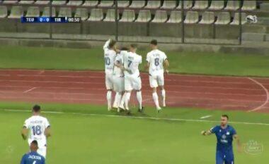 Vetëm 40 sekonda lojë, zhbllokohet supersfisa Teuta-Tirana (VIDEO)