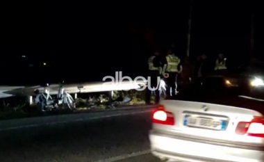 Aksident në Elbasan, një i lënduar (VIDEO)