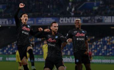 Përfundon pjesa e parë Napoli 2-0 Bologna , një supergol i Fabian dhe Insigne