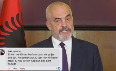 """""""Si nuk ju vjen turp"""", qytetari krahason Ramën me Enver Hoxhën, kryeministri i përgjigjet live (VIDEO)"""