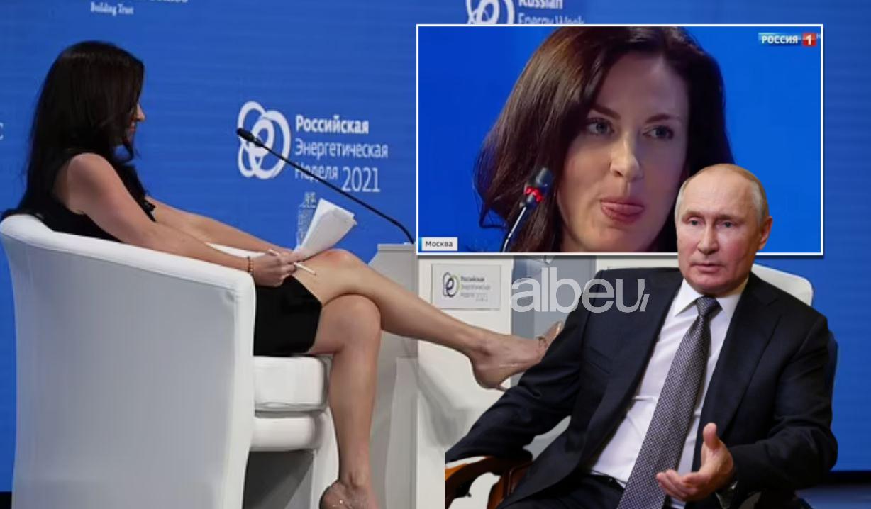 Kafshime dhe lëvizje provokuese, gazetarja amerikane flirton hapur me Putin?! (VIDEO)