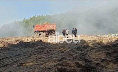 Prej tre ditësh vijojnë të digjen mbetjet në Laç, zona e pushtuar nga tymi toksik (VIDEO)