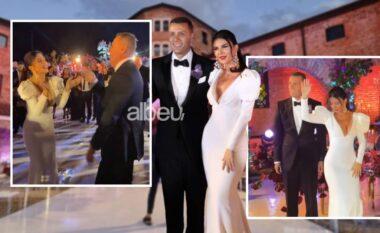 """Ceremoni madhështore dhe atmosferë e """"çmendur"""", brenda dasmës së Rudina Dembacaj dhe Mark Frrokut (VIDEO)"""