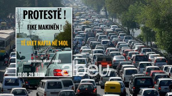 Rritja e çmimit të karburanteve, nesër pritet protestë: Do të fiken makinat në autostradë! (FOTO LAJM)