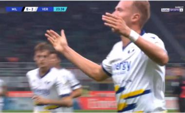 """Heshtje në """"San Siro"""", Verona shënon golin e dytë (VIDEO)"""