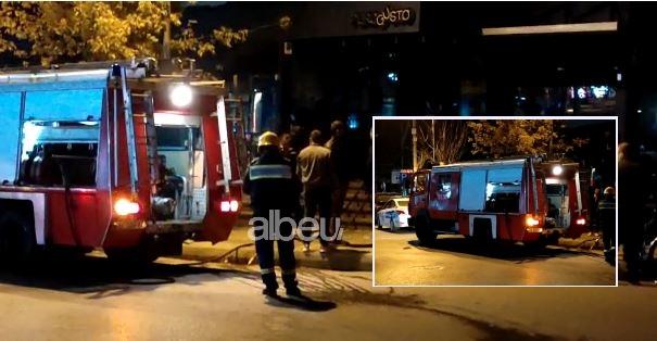 Përfshihet nga zjarri një lokal në Elbasan (VIDEO)