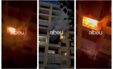 62-vjeçarja vdiq pasi u hodh nga ballkoni, momenti kur zjarri shkrumbon apartamentin në Astir (VIDEO)